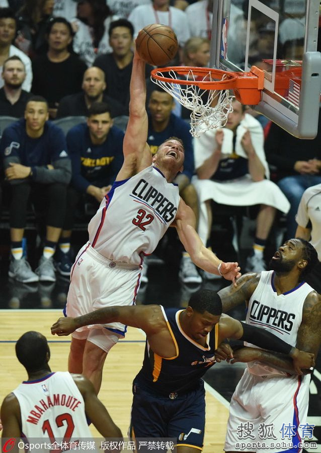 2016-2017 NBA季后赛 快船VS爵士 G2 录像-麦豆网