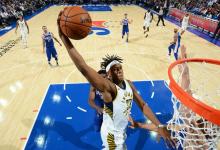2017-2018 NBA常规赛 步行者VS76人 录像回放-麦豆网