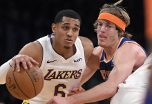 2017-2018 NBA常规赛 尼克斯VS湖人 录像回放-麦豆网