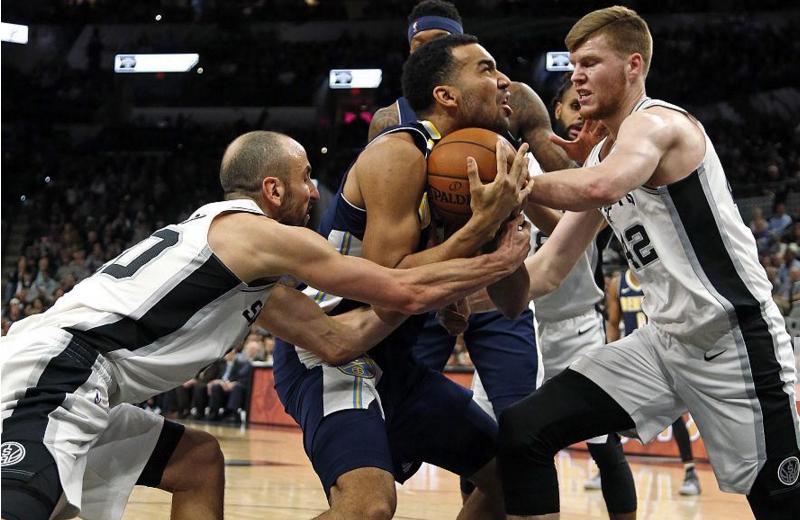 2017-2018 NBA常规赛 掘金VS马刺 录像回放-麦豆网