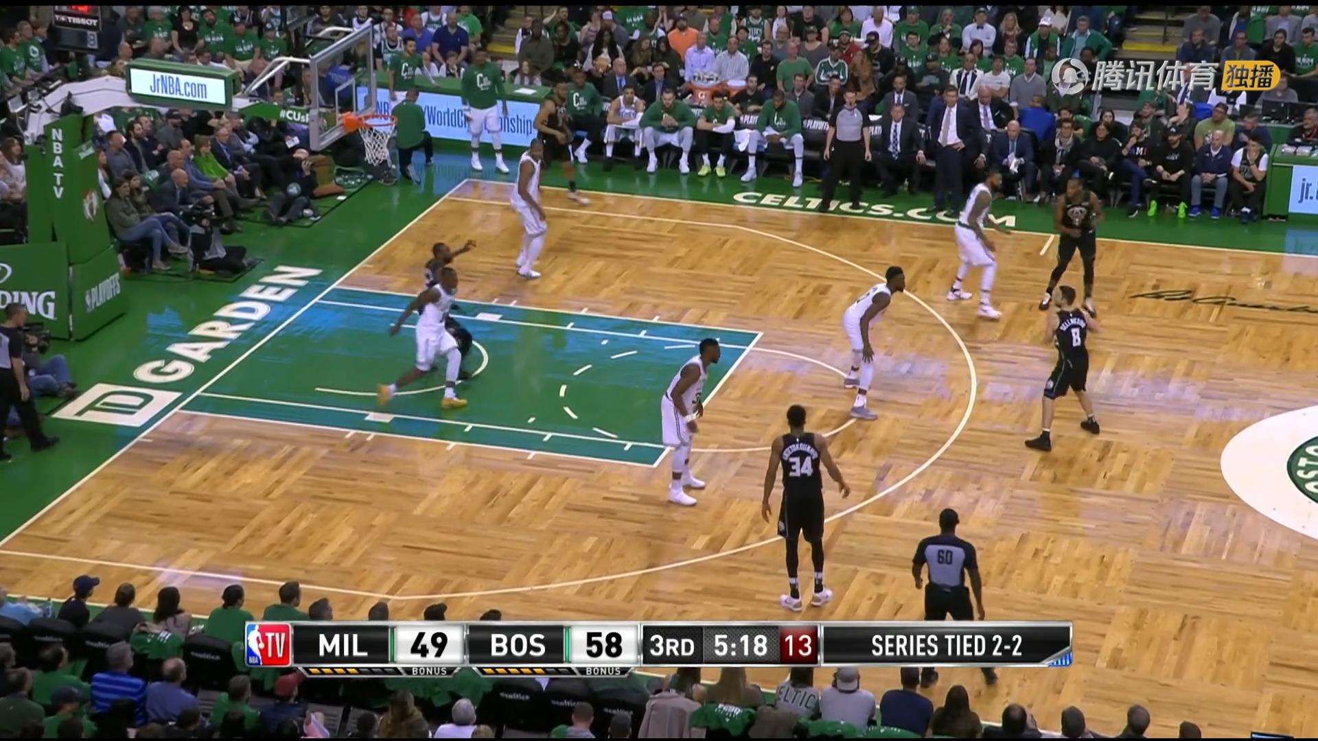2018年4月25日 NBA季后赛东部首轮 凯尔特人VS雄鹿 第五场全场高清录像回放-麦豆网