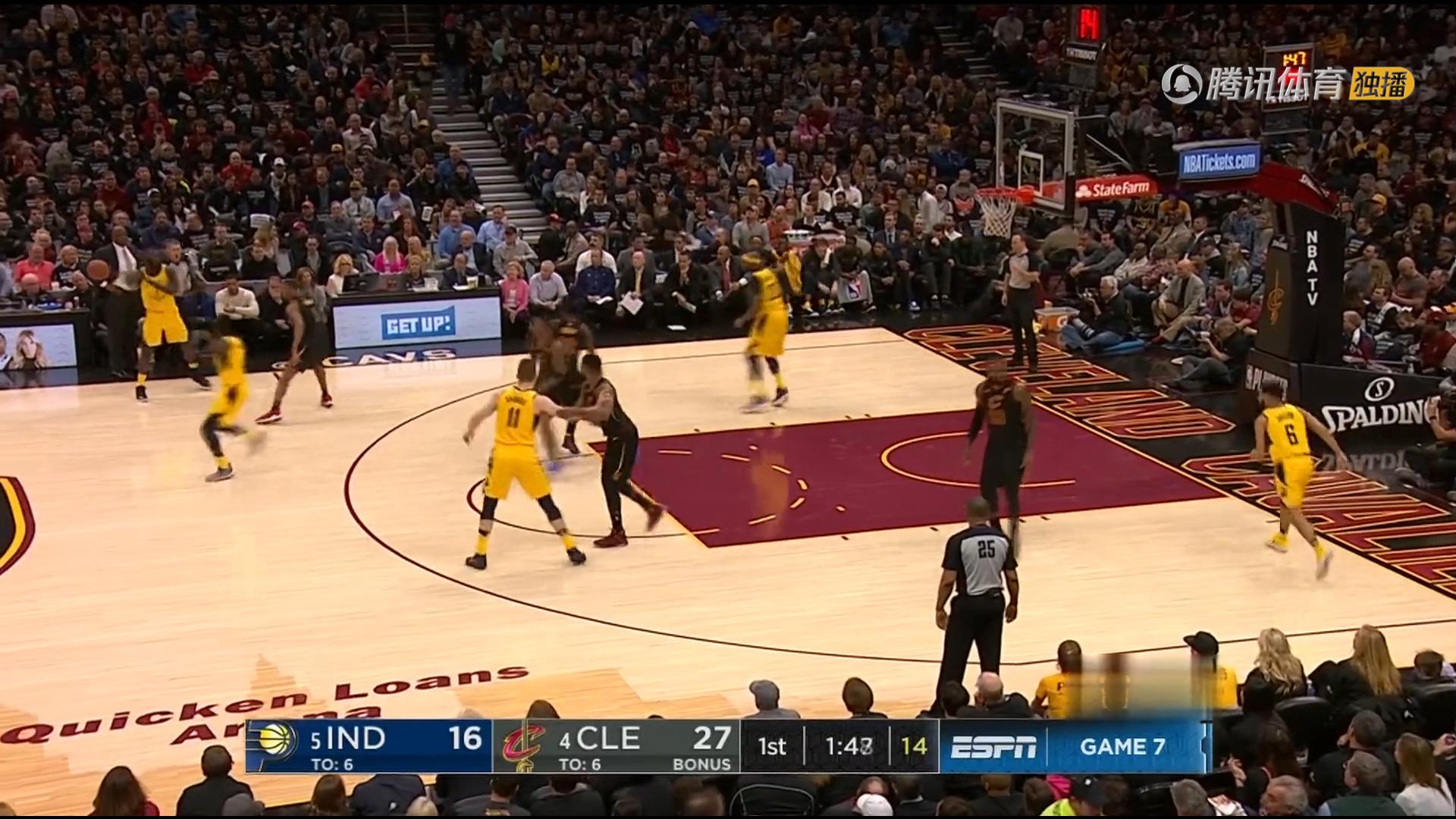 2018年4月30日 NBA季后赛东部首轮 骑士VS步行者 第七场全场高清录像回放-麦豆网