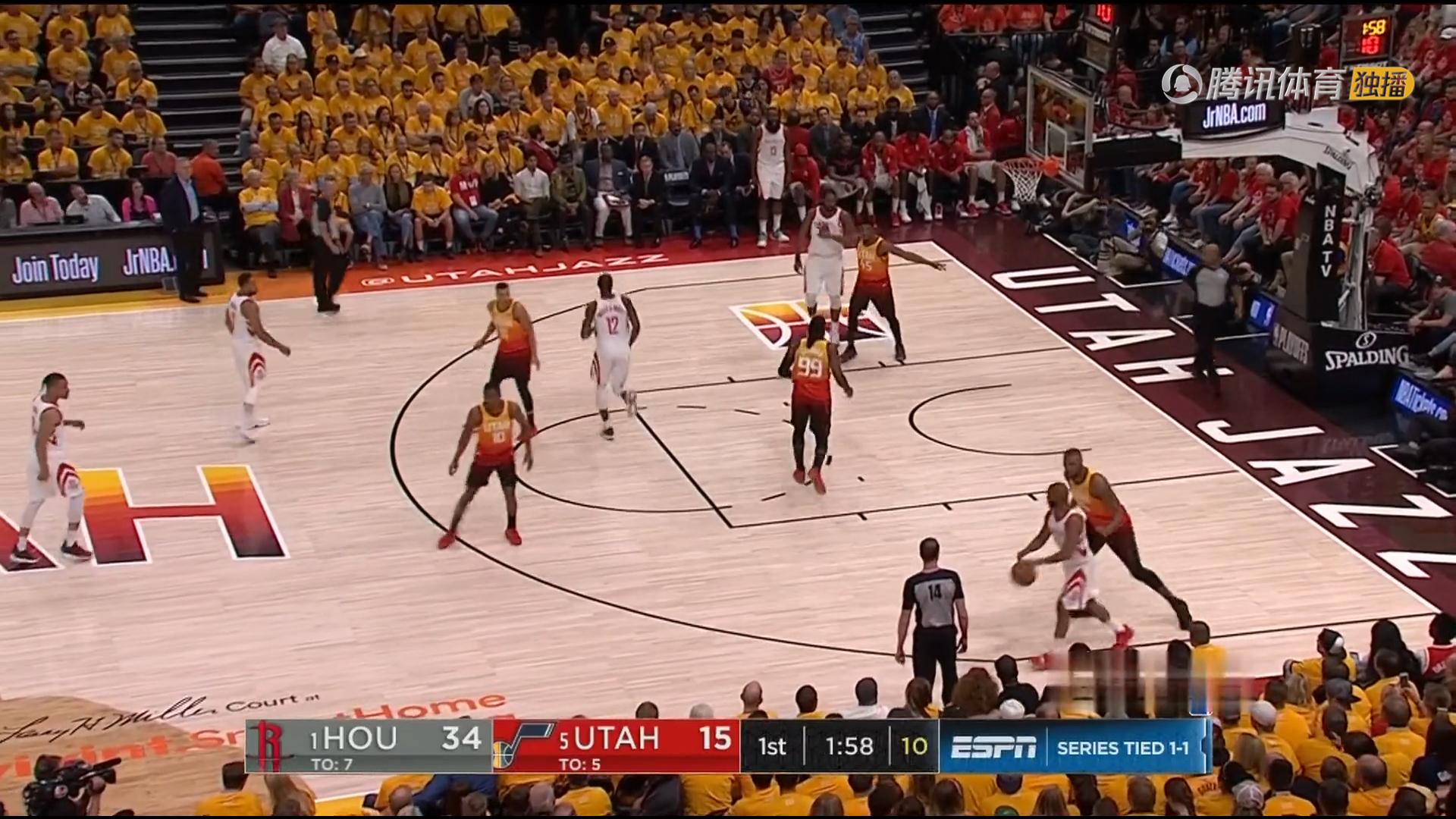 2018年5月5日 NBA季后赛西部半决赛 爵士VS火箭 第三场全场高清录像回放-麦豆网
