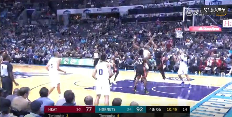 2018年10月31日 NBA常规赛 热火VS黄蜂 全场高清录像回放-麦豆网