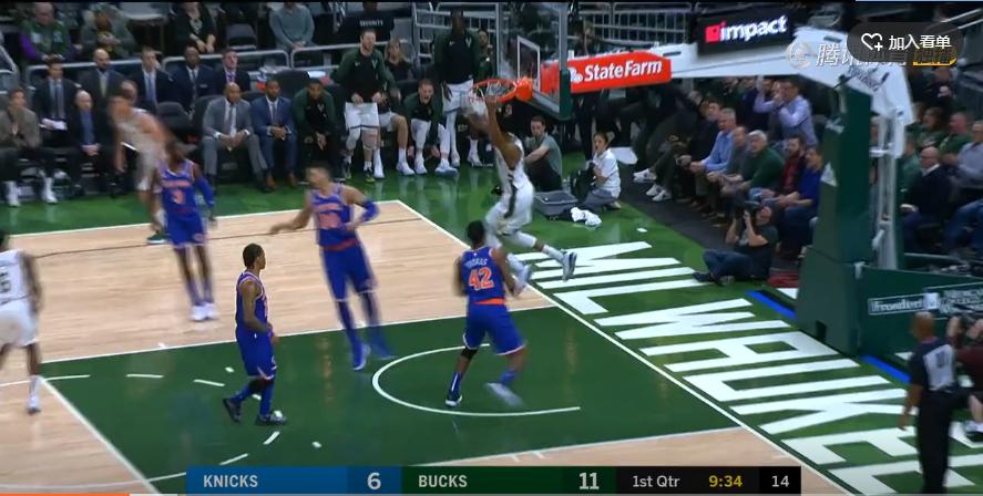 2018年10月23日 NBA常规赛 尼克斯VS雄鹿 全场高清录像回放-麦豆网