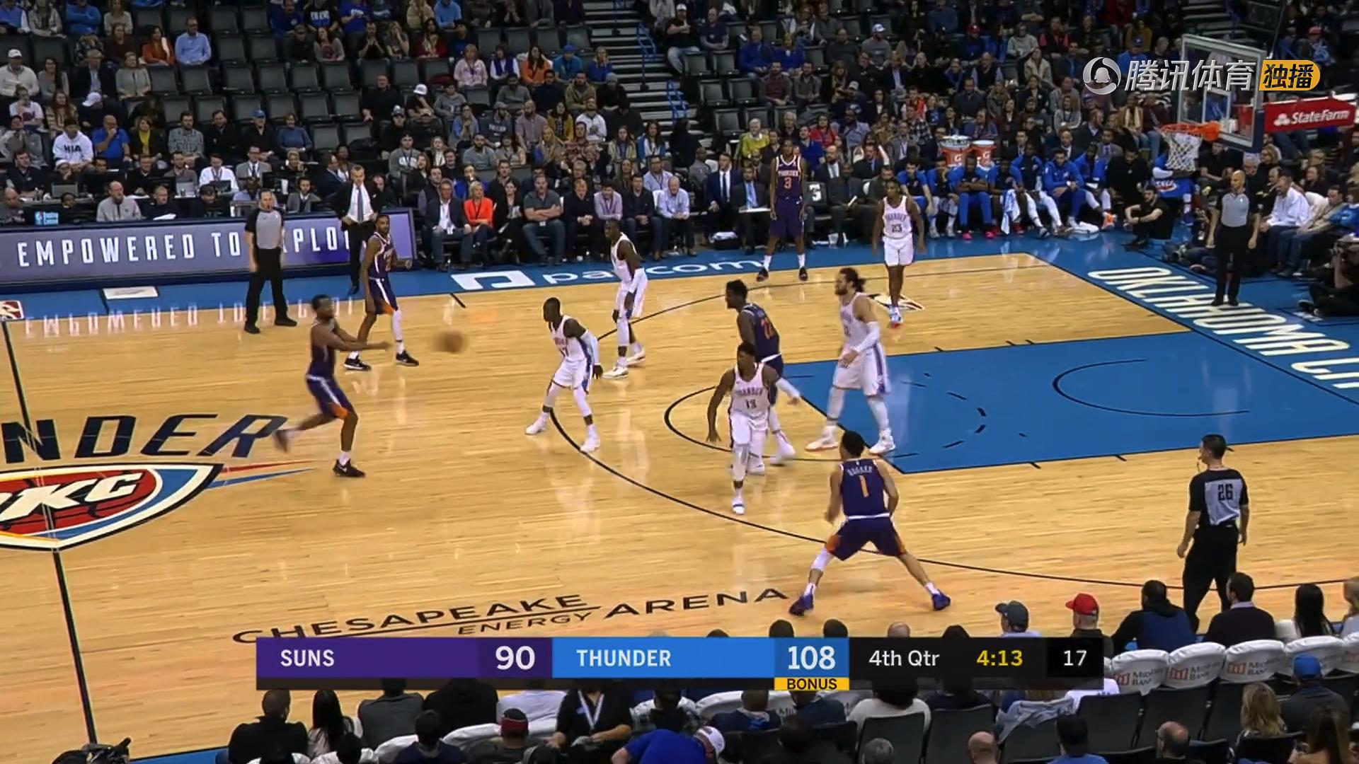 2018年11月13日 NBA常规赛 太阳VS雷霆 全场高清录像回放-麦豆网