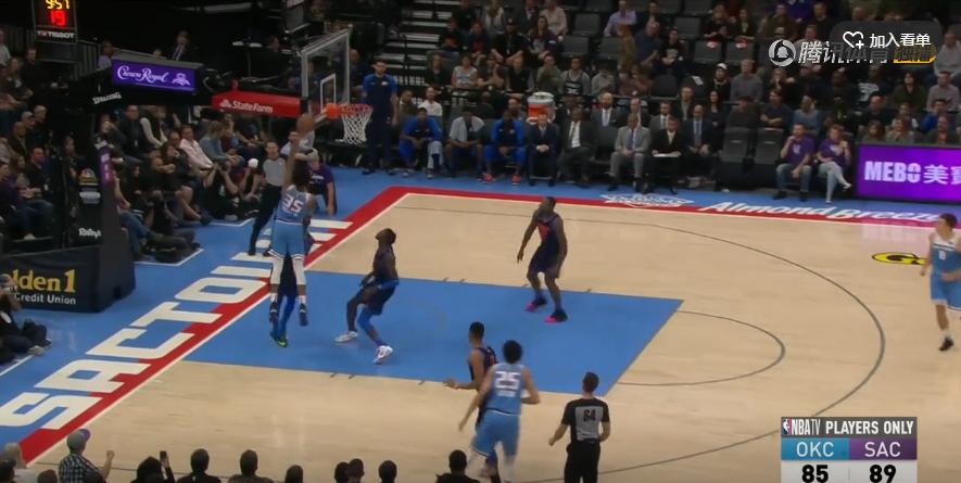 2018年11月20日 NBA常规赛 雷霆VS国王 全场高清录像回放-麦豆网