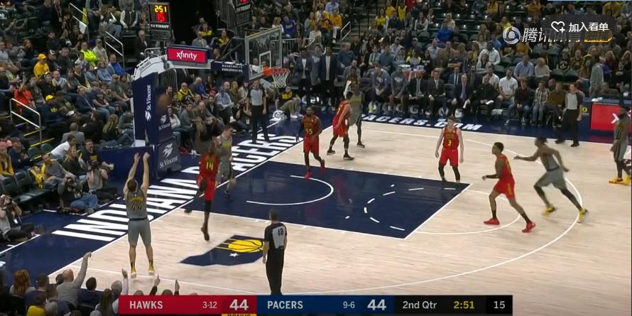 2018年11月18日 NBA常规赛 老鹰VS步行者 全场高清录像回放-麦豆网