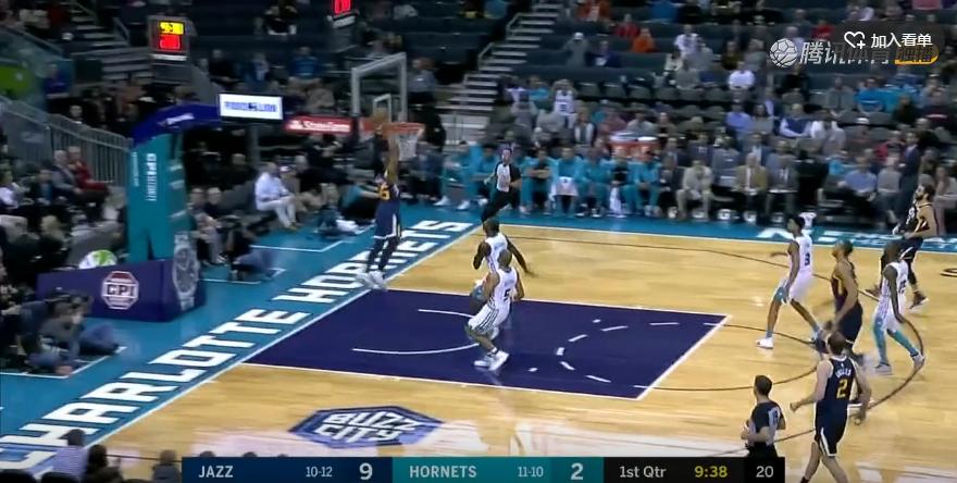 2018年12月1日 NBA常规赛 爵士VS黄蜂 全场高清录像回放-麦豆网