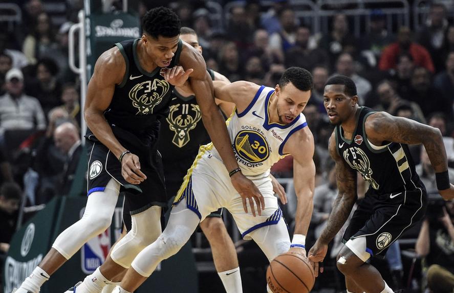 2018年12月8日 NBA常规赛 勇士VS雄鹿 全场高清录像回放-麦豆网