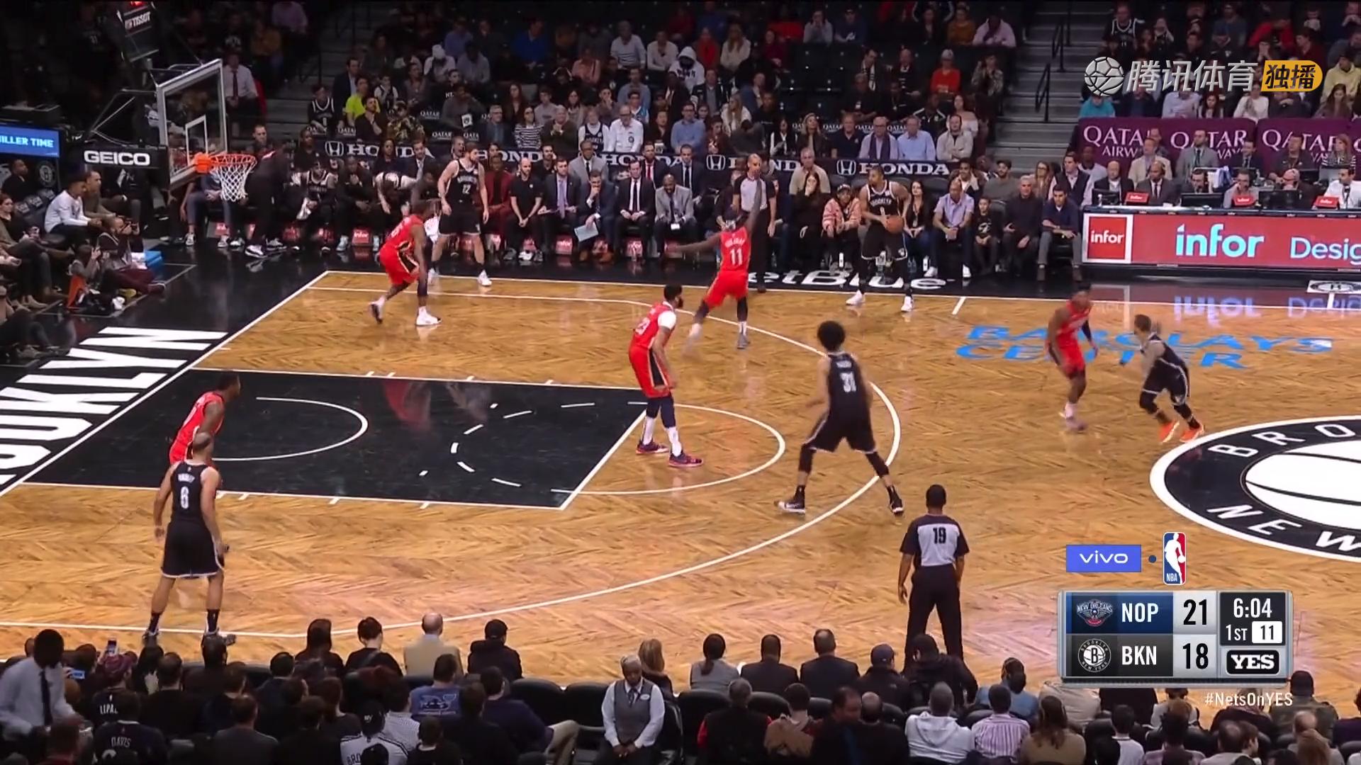 2019年1月3日 NBA常规赛 鹈鹕VS篮网 全场高清录像回放-麦豆网