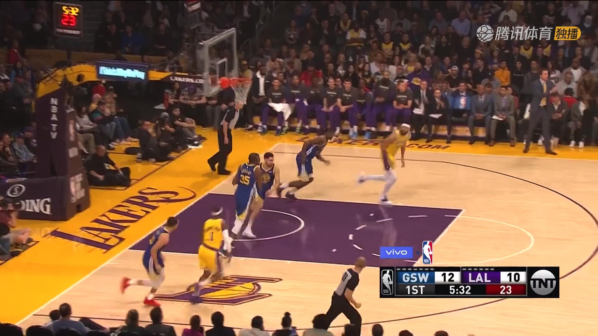 2019年1月22日 NBA常规赛 勇士VS湖人 全场高清录像回放-麦豆网